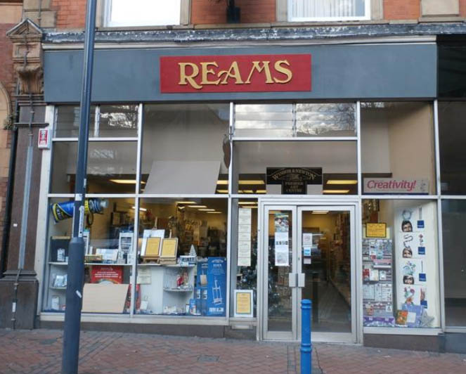 Reams derby city centre shop